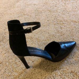 NEW🤩 Franco Sarto Black Ankle Strap Pumps